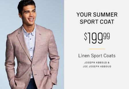 $199.99 Linen Sport Coats from Men's Wearhouse