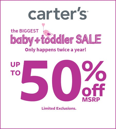 The Best Of Baby Sale- Up To 50% Off