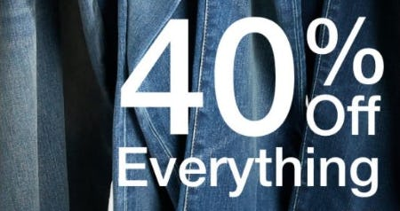40% Off Everything from Gap