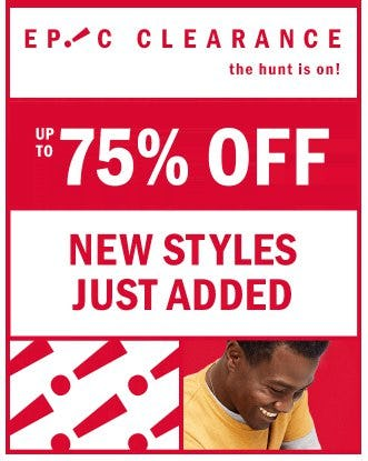 Epic Clearance up to 75% Off from Old Navy