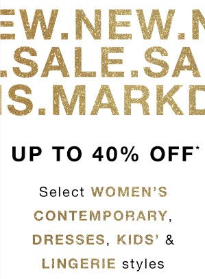 Up to 40% Off Sale from Saks Fifth Avenue