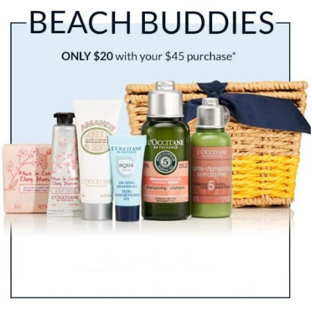 Beach Buddies Only $20 With Your $45 Purchase from L'Occitane
