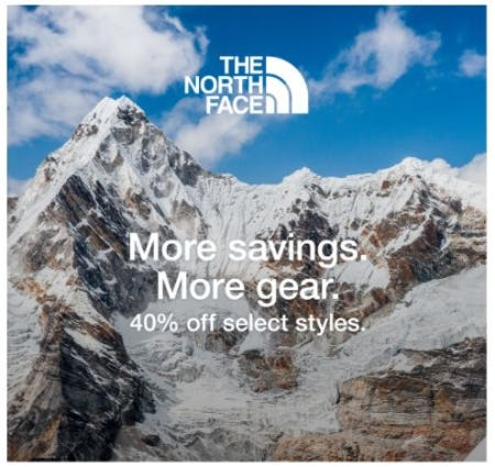 40% Off Select The North Face Styles