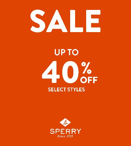 SAVINGS UP-TO 40% OFF from Sperry Top-Sider