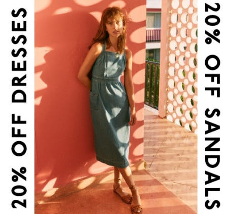 20% Off Dresses and Sandals from Madewell