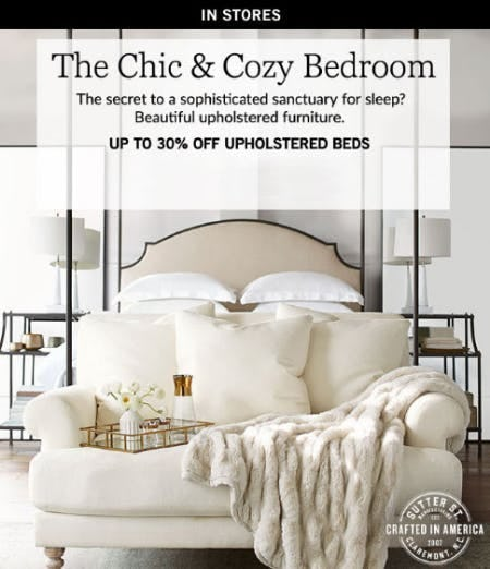 Up to 30% Off Upholstered Beds