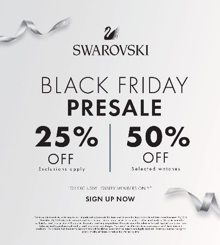 Black Friday Presale from Swarovski