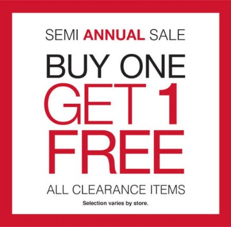 Buy One, Get 1 Free All Clearance Items from Charming Charlie