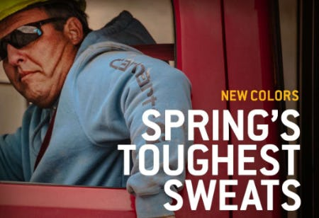 Favorite Sweats in New Colors from Carhartt