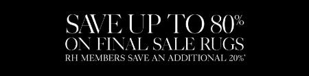 Up to 80% Off Final Sale Rugs from Restoration Hardware