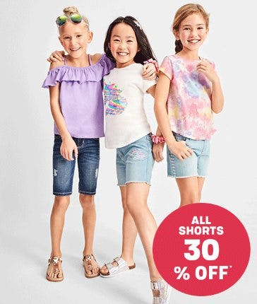 All Shorts 30% Off from Children's Place