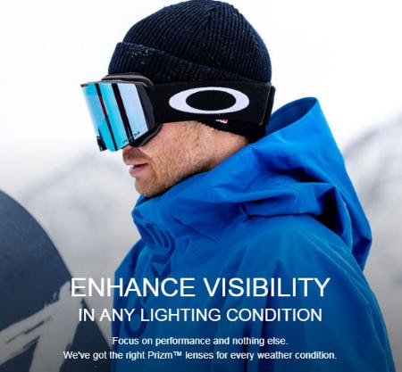 Enhance Visibility in Any Lighting Condition from Oakley