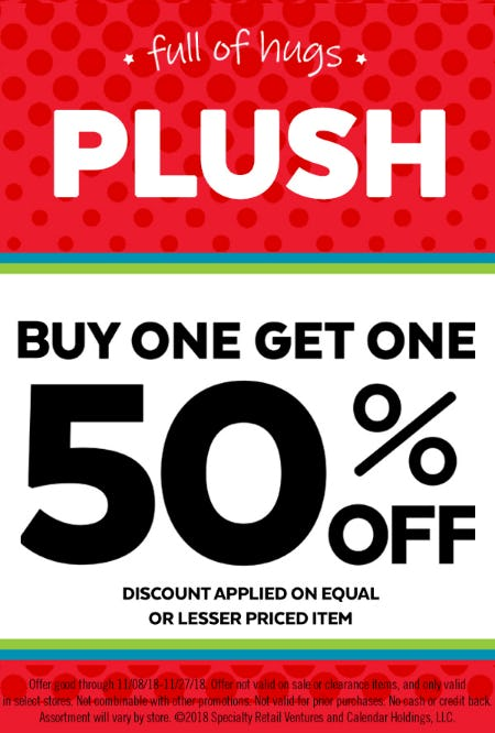 ALL Plush - Buy One, Get One 50% Off from Go! Calendars and Games
