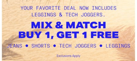 Mix & Match Buy 1, Get 1 Free from Aéropostale