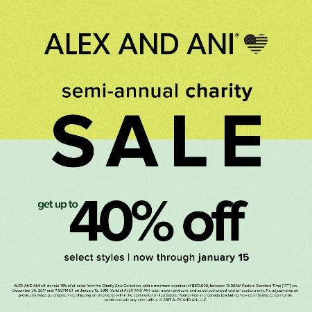 Semi-Annual Charity Sale