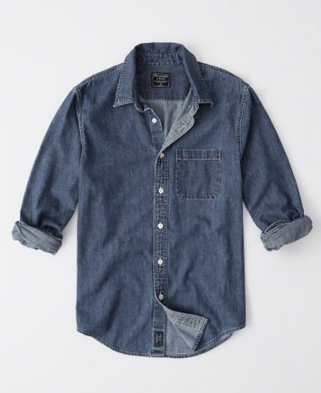 One Pocket Denim Shirt from Abercrombie & Fitch