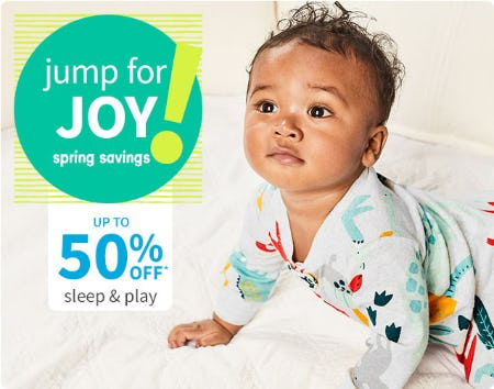 Up to 50% Off Sleep & Play from Carter's