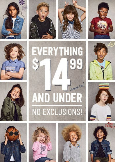 Everything $14.99 & Under from Crazy 8
