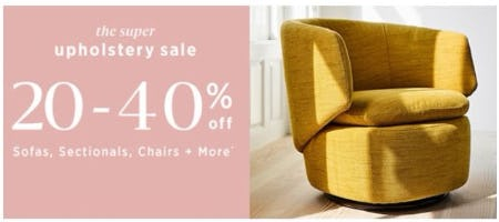 The Super Upholstery Sale