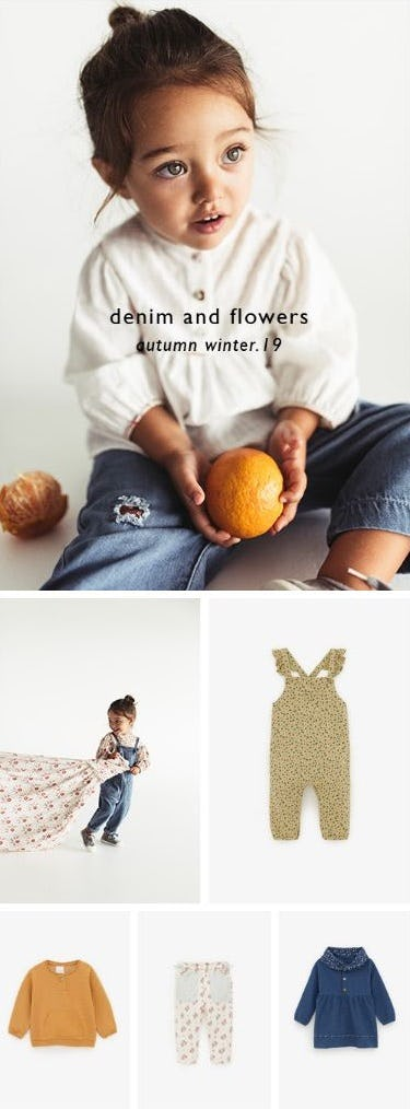 New Baby Arrivals: Flowers and Denim from ZARA