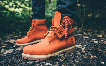 "Exclusive Timberland 6"" Premium Boot ""Orange"" from DTLR"