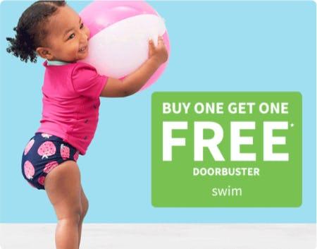 BOGO Free Doorbuster Swim from Carter's