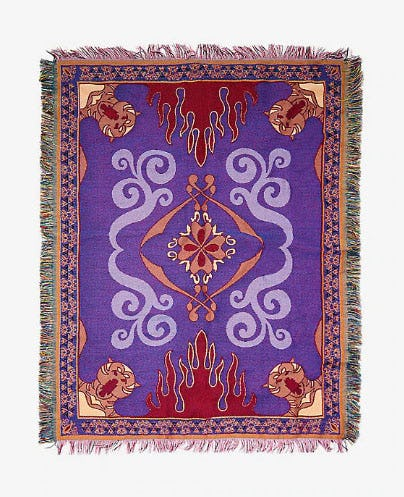 Disney Aladdin Magic Carpet Woven Tapestry Throw Blanket from Hot Topic
