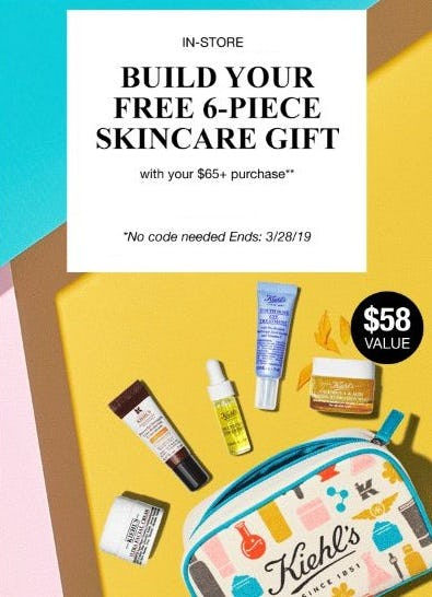 Free 6-Piece Skincare Gift from Kiehl's