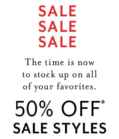 50% Off Sale Styles from White House Black Market