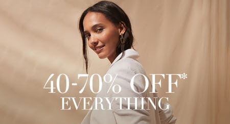 40-70% Off on Everything