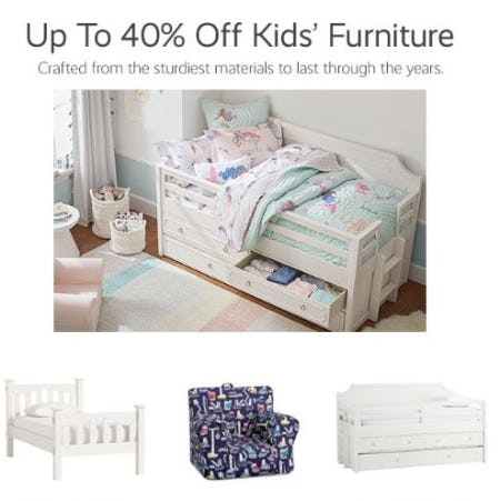 Up to 40% Off Kids' Furniture from Pottery Barn Kids