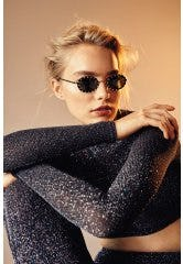 Dainty Oval Frames with Crystal Studded Embellishments from sunglass hut