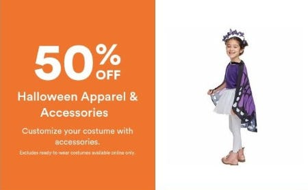 50% Off Halloween Apparel & Accessories from Michaels