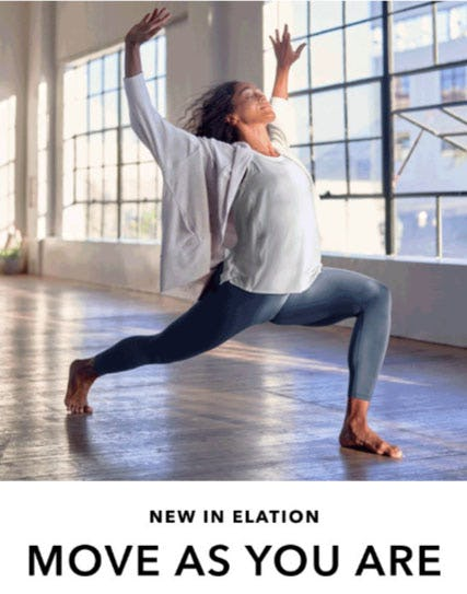 New in Elation from Athleta
