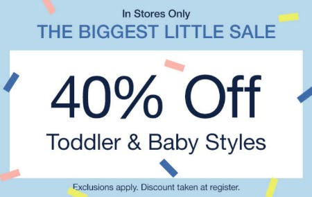 40% Off The Biggest Little Sale from Gap