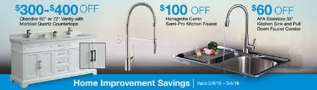 Great Home Improvement Savings from Costco