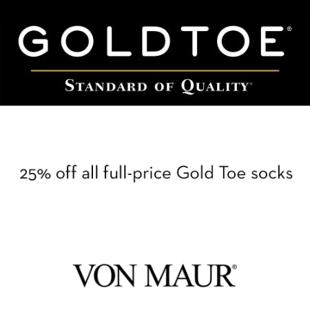 Gold Toe Women's 25% off from Von Maur