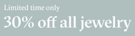 30% Off All Jewelry