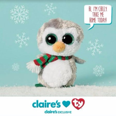 Chilly the Penguin - Exclusively at Claire's!