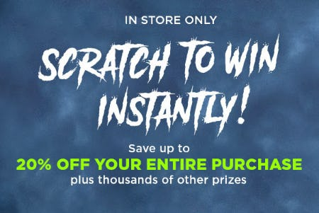 Up to 20% Off Your Entire Purchase