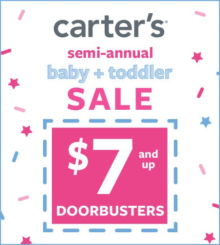 $7 and Up Doorbusters* from Carter's