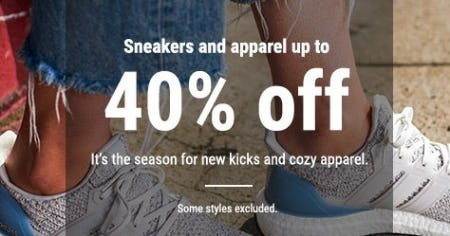 Sneakers and Apparel up to 40% Off from Lady Foot Locker
