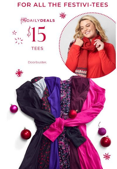 $15 Tees from Lane Bryant