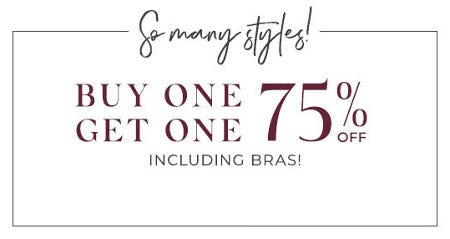 Buy One, Get One 75% Off from Lane Bryant