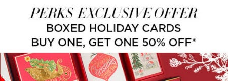 BOGO 50% Off Boxed Holiday Cards