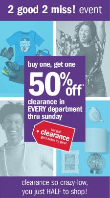 BOGO 50% Off Clearance from Gordmans