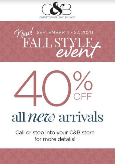 New Fall Style Event