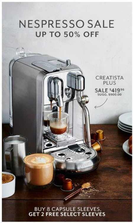 Nespresso Sale up to 50% Off from Sur La Table