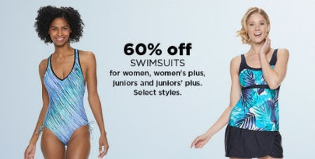 60% Off Swimsuits from Kohl's