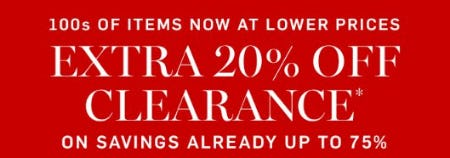 Extra 20% Off Clearance from Williams-Sonoma